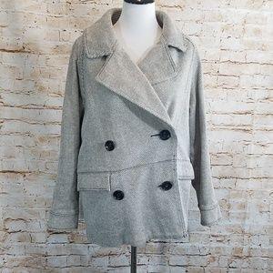 Free People Oversized Double Breasted Jacket Coat